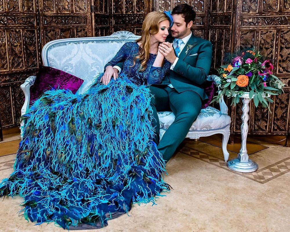 Peacock wedding dress, Eliza Jane Howell