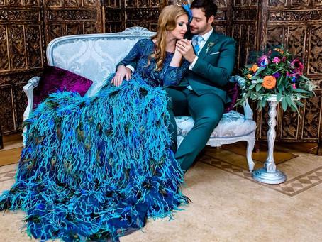 Lavish & Luxurious; the Ultimate Peacock Wedding Inspiration