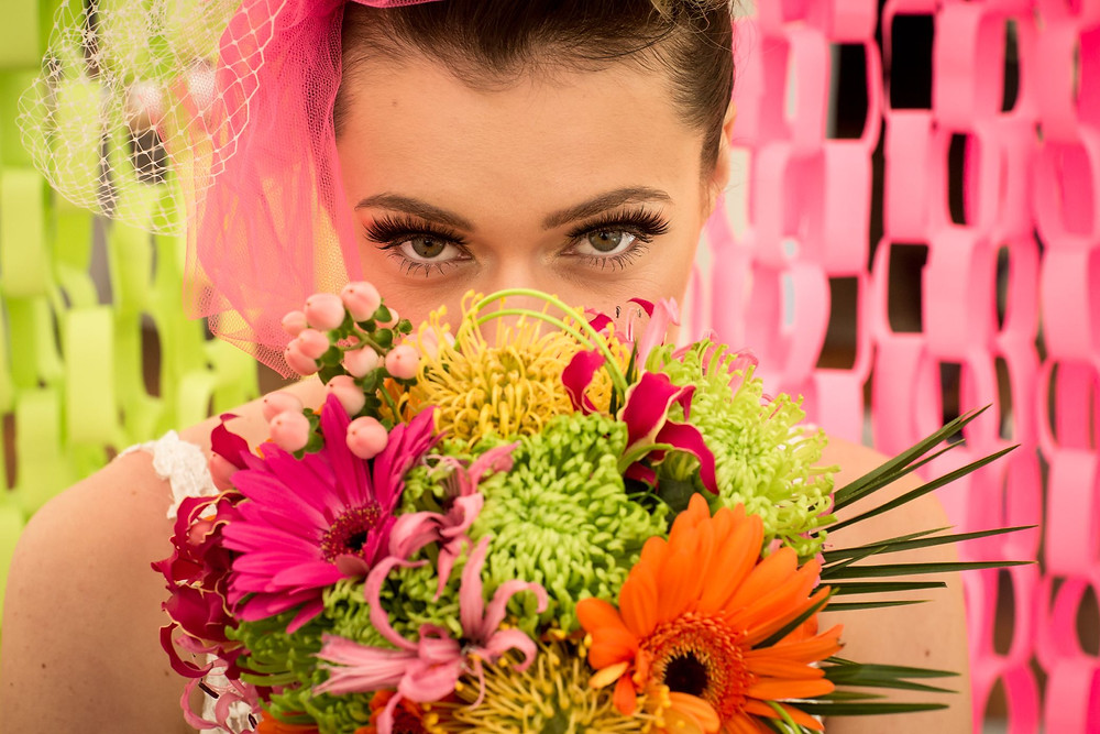 Jeff Oliver Photography | Neon bright colourful wedding, bold colours, Kent wedding suppliers