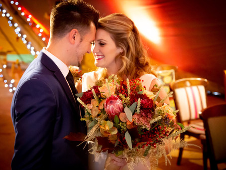 A Vibrant 'Moody' Wedding with Warm Autumnal Tones