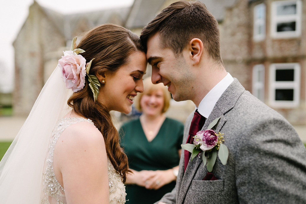 Michael Newington Gray Photography | Dusky Rose & Burgundy Vintage Shoot - Kingsdown Rectory Kent Wedding Venue