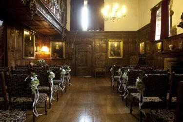 Small, intimate wedding ceremony at Hever Castle, Kent wedding venue