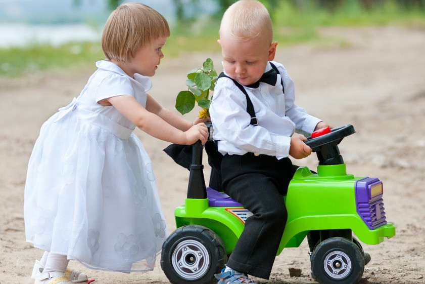 Childcare at a wedding