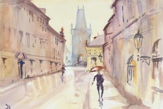 A Rainy Day in Prague