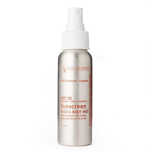 Sunscreen SPF30 Face & Body Mist