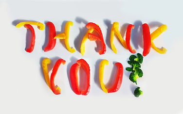 Canva - Thank You Spelled by Vegetables.