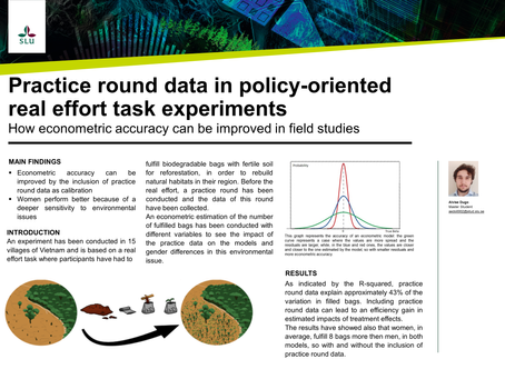 Practice round data in policy-oriented real effort task experiments