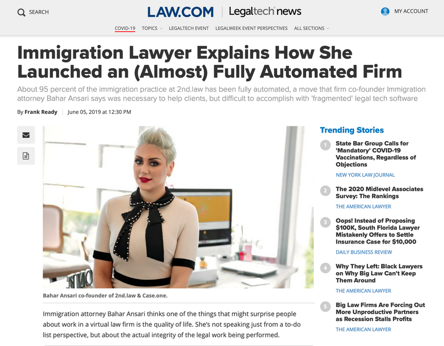 Immigration Lawyer Explains How She Launched an (Almost) Fully Automated Firm