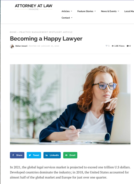 Becoming a Happy Lawyer