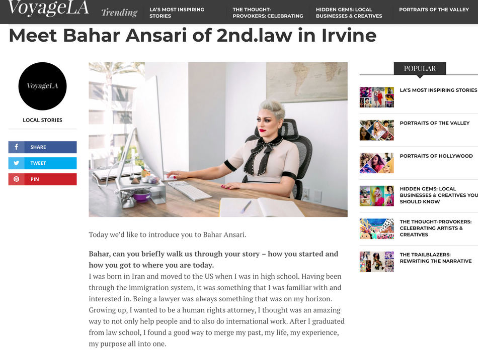 Meet Bahar Ansari of 2nd.law in Irvine