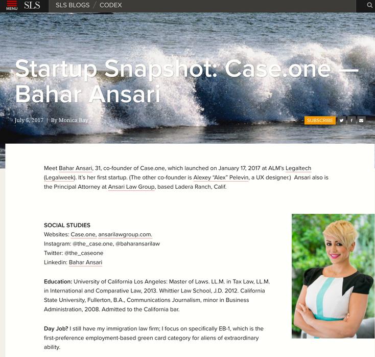 Startup Snapshot: Case.one - Bahar Ansari