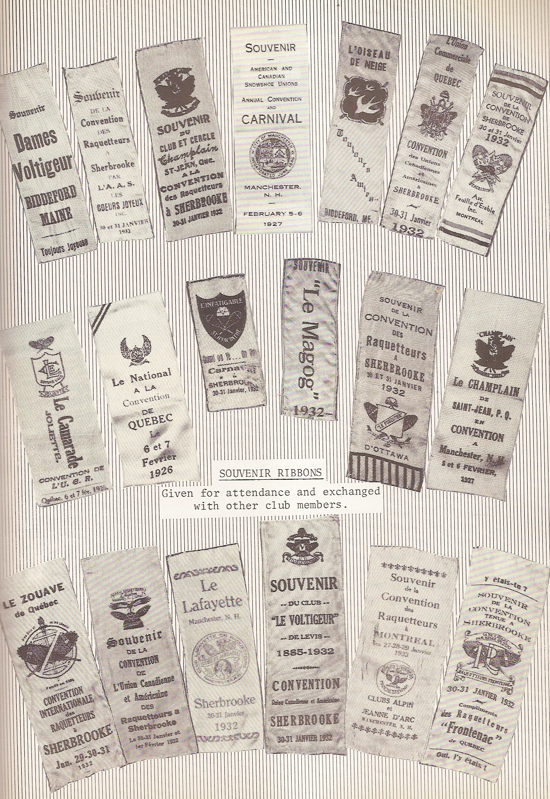 Snowshoe Club Ribbons