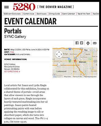 5280 Event Calendar - Portals