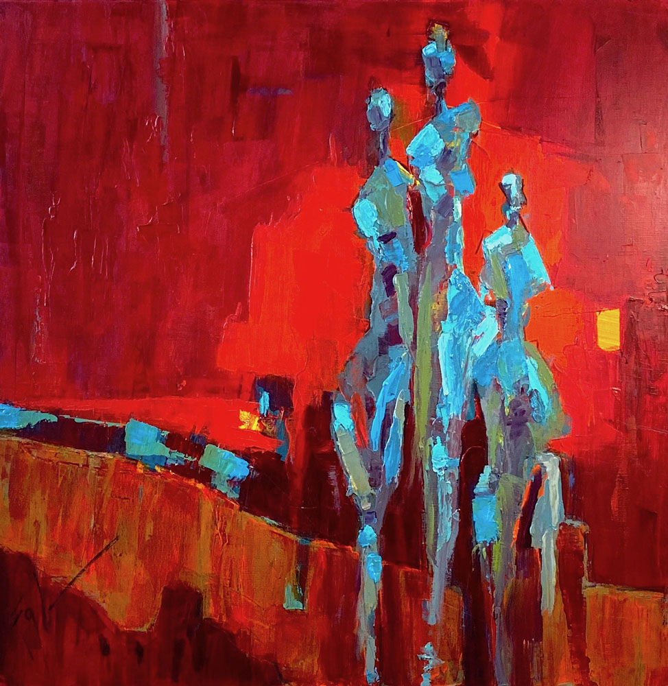 Figures on Red