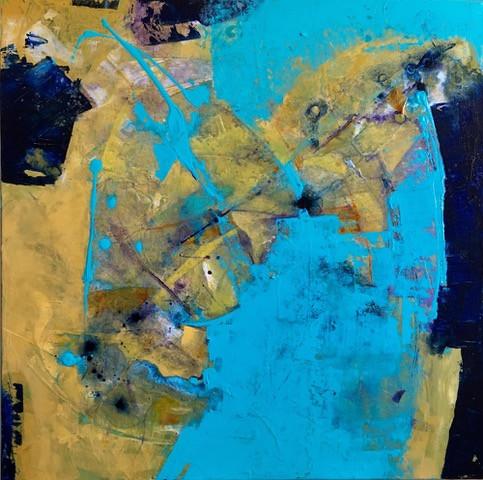 Kristy Smith, Shoreline 24x24 Acrylic
