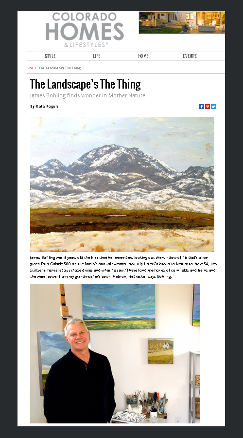 James Bohling featured in CO Homes & Lifestyles magazine.