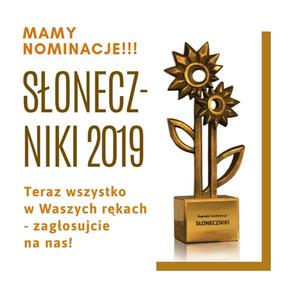 Zostaliśmy nominowani w plebiscycie  Słoneczniki 2019