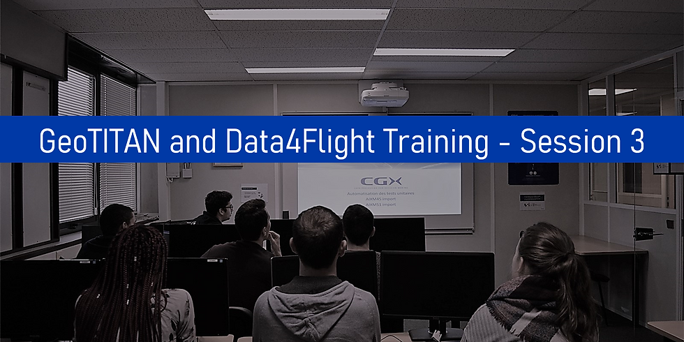 GeoTITAN and Data4Flight Training - Session 3
