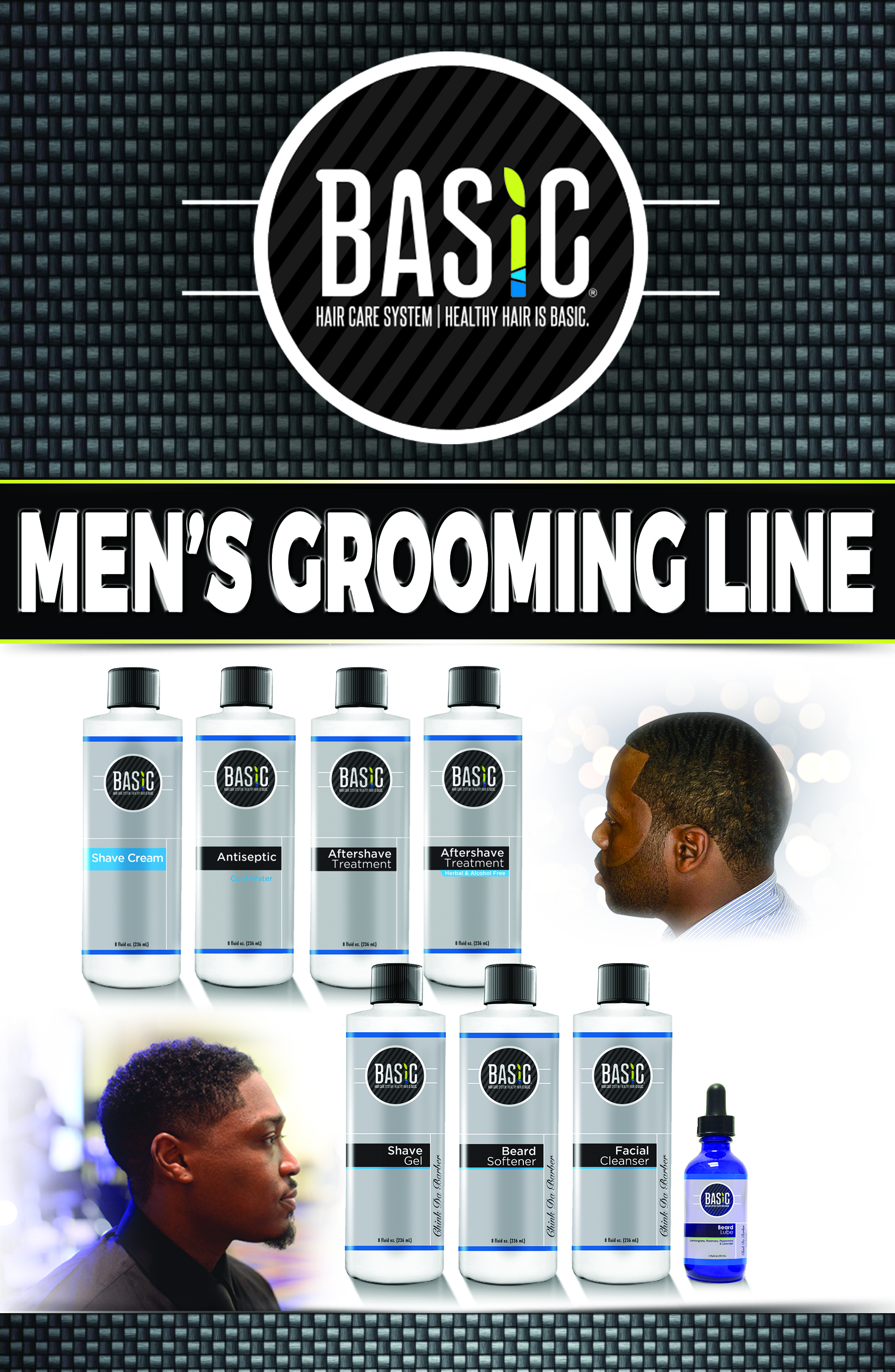 Men's Grooming Line pamphlet