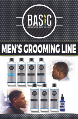 Men's Grooming Line pamphlet