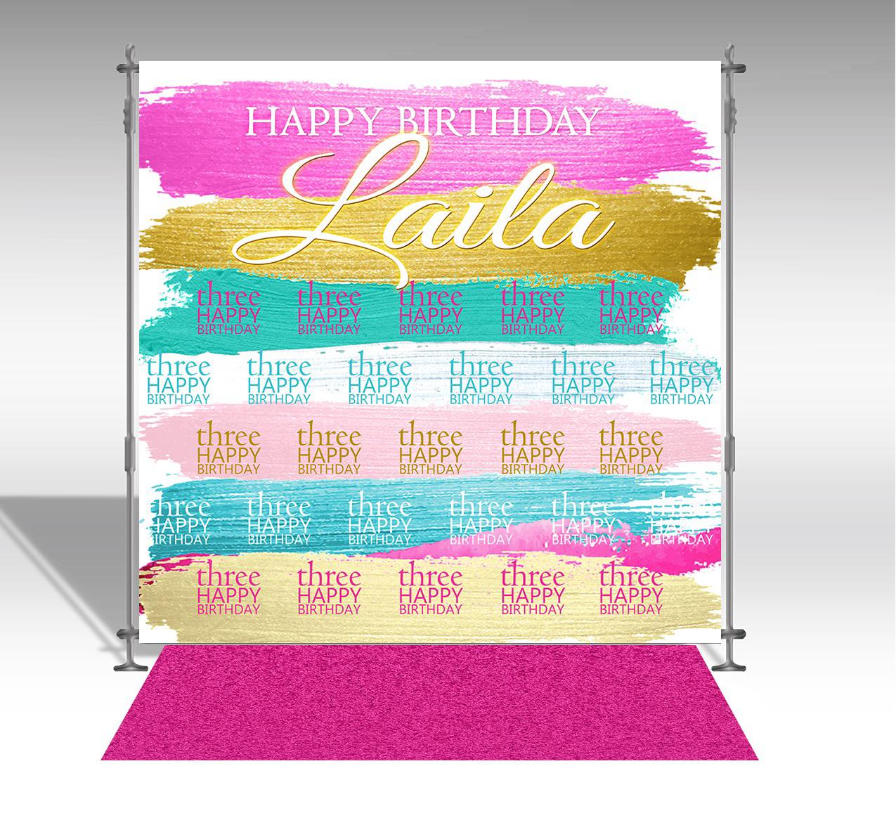 8'x8' backdrop banner