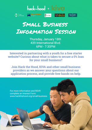 Small Business Information Session 1/18!