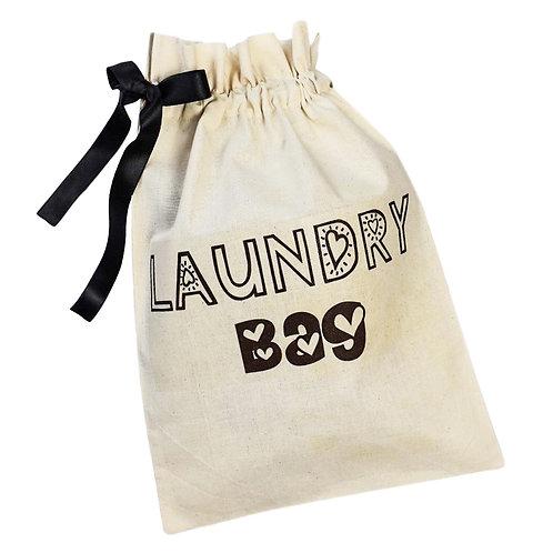 Kids' Laundry Organising Bag - Hearts