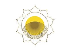 A stylized sun
