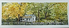 cook house on the salmon river watercolor original or prints available 7x18