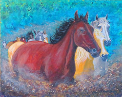 """""""Running with the Hebers"""" by Janice Mill"""