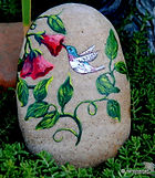 hummingbird art,original paintings,handpainted rocks,yard art,unique gifts,perfect gifts for any occasion