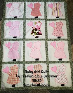 Little Girl Quilt 38x50