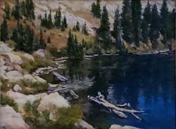 square mountain lake