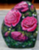 handpainted rocks,pink roses,valentines gifts,painted river rocks,pet portraits