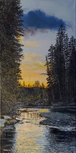 the mouth of the payette, $450, Sharon Herther