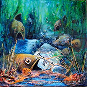 free fishing day,mixed media on canvas,best deal gifts for men,original art,fish