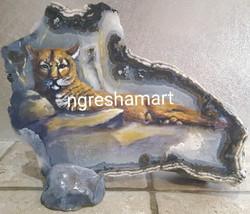 mountain lion handpainted rock ngreshama