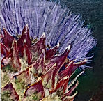 flowering artichoke by Leah Harvey