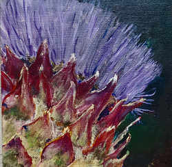 flowering artichoke by Leah Harvey