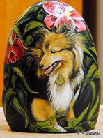 hand painted rocks,dogs,shelties,aussies,australian shepherd painings