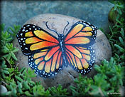 butterfly paintings,hand painted rocks,yard art