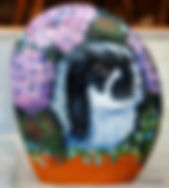 handpainted rocks,bunnies,rabbits,pets painted on stone