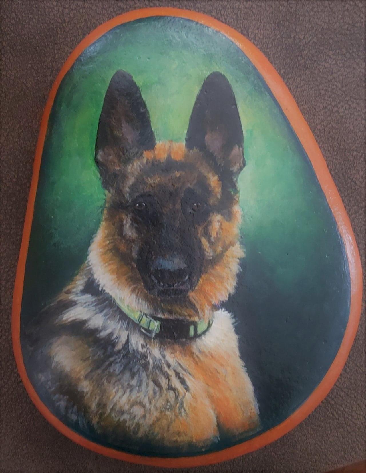 custom pet portraits canvas or stone by ngresham