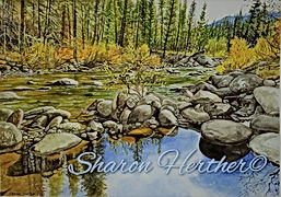 sesech river watercolor original or prints