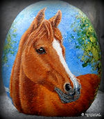 pet portraits on rocks,horses,horse paintings,hand painted rocks