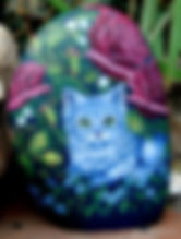 pet portraits,kittens,cats painted on rock,rock art