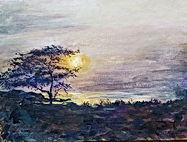 ocean sunset by Leah Harvey