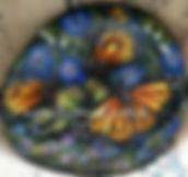 handpainted rocks,butterflies,monach butterflies,yellow butterflies,hand painted rocks,rock art