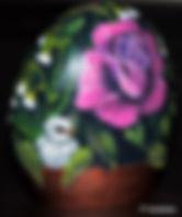 original floral paintings,paintings of pink roses,handpainted rocks,baby bird