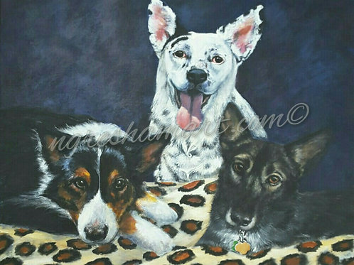 custom pet portraits from your photos, original art, animal paintings